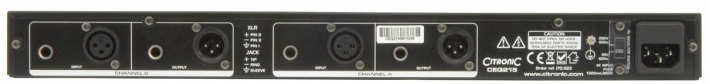 Citronic CEQ215 Dual 15-band Graphic EQ - Click Image to Close